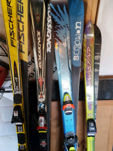 Skis with bindings. Rossignol, Fischer, Solomon,  Dynastar