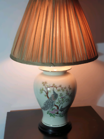 Porcelain hand made table lamp