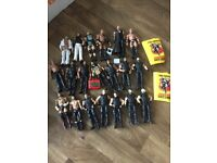 Mixed lot of WWE WWF WRESTLING figures belts dress up items