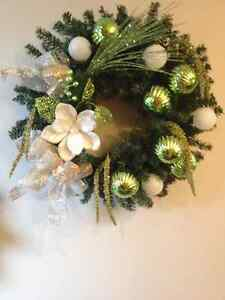 Christmas centrepieces and wreaths