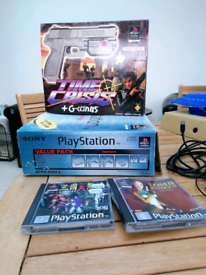 Playstation 1 and games (includes rare Time Crisis)
