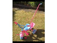 Baby Annabel trike with parent handle & dolls seat