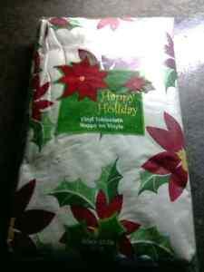 Christmas vinyl tablecloth