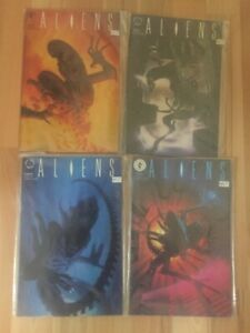 4 Dark Horse comics Aliens. La collection complète de 1989-1990