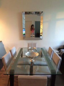 Belle table en verre