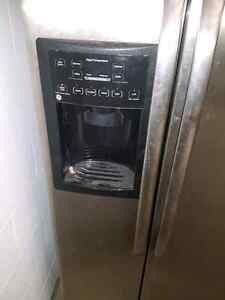 Stainless steel fridge in very good condition  London Ontario image 2