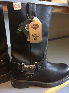 Harley Davidson green patch riding boots