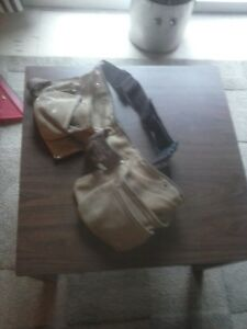 Suede tool belt-pouch