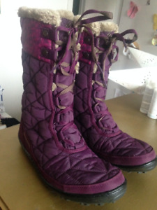 COLUMBIA MINX OMNI-HEAT WINTER BOOTS, NEW, PURPLE