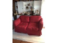 Lovely red sofa in great condition for free!