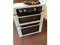 Hotpoint built in electric oven (BU72) and Gas hob