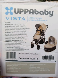 Uppababy Stroller 2012 and Bassinet in beige (Lindsey)