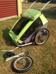 Croozer 2 bike trailer for 2 children