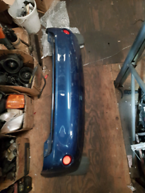 Rear bumper ford fiesta dark blue with mud flaps guards and reflectors