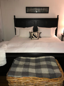 POTTERY BARN - CALIFORNIA KING SIZE BED & MATTRESS