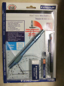 NEW Staedtler Premium Quality Mini Drafting Kit - 9 pcs