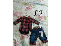Range of brand new baby clothes
