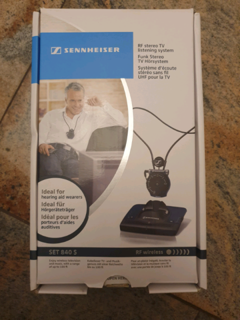 Sennheiser SET840 S RF Wireless TV Listening Device | TV Accessories