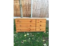 Large chest of pine drawers
