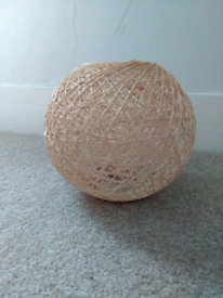 small woven lampshade