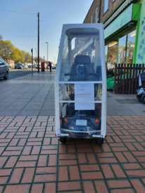 Mobility scooter and canopy