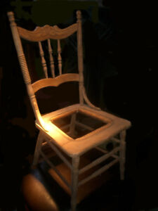 4 Antique chairs ready for re-caning: Buy one or the set