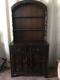 Dark wood Welsh dresser.