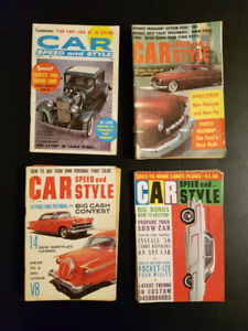 Vintage Car Speed and Style Mini Magazines from 1950 and 1960's