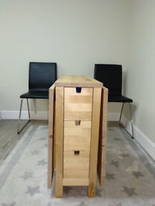 IKEA foldable dining table (with 2 chairs)