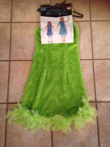 Green dress Halloween costume and wings