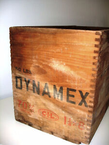 1954 EXPLOSIVE DYNAMITE CRATE Canadian Indust. INDUSTRIAL CHIIC Cambridge Kitchener Area image 2
