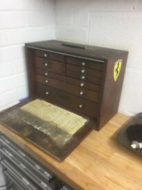 Engineers tool chest, (wood)