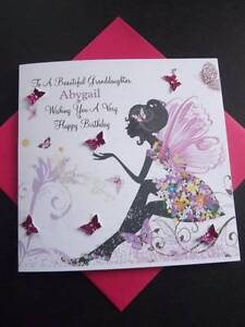 Handmade Personalised Birthday Card Sister Granddaughter Daughter 18th Any Age