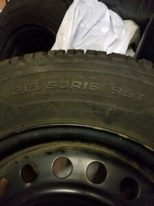 4 Goodyear Ultragrip Winter tires & rims (with sensors)