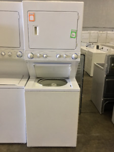 White Frigidaire Stackable Washer and Dryer