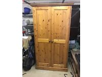 Shabby Chic Antique Style Vintage Wooden Wardrobe