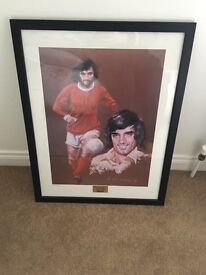 Limited edition Michael McDade George Best print