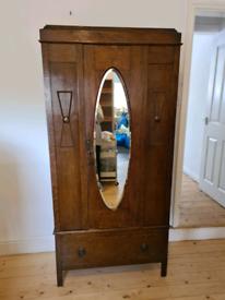 Antique wooden wardrobe