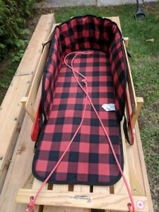 Traditional Baby Sleigh with Pad and Wear Bars-Toboggan