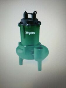Myers NW50 Sump/Sewage Pump - pumps out 135 GPM