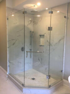 10mm Tempered Glass Shower Door * Stairs * Mirrors