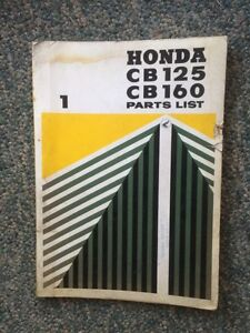 1964 Honda CB 125 CB 160 Parts List