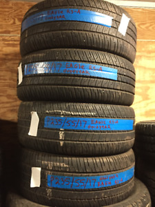 4 Used 235-55-17 Goodyear Eagle RS-A