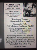 Care aide for hire Okanagan valley area