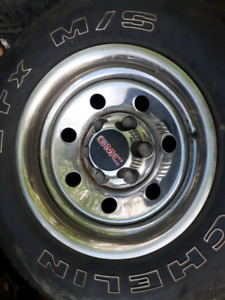 6 hole Chevy rally rims n 16 in tires   200.00