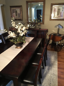 MUST GO THIS WEEKEND Dining Table With Buffet 8 Chairs