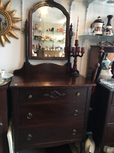 Vintage Small Dresser with Mirror