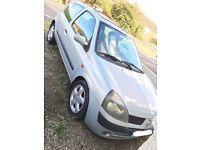 Renault Clio 1.5 Diesel 2002 (Spares & Repairs) Low Milage.