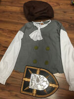 peasant knight shirt/hat and shield $10 all
