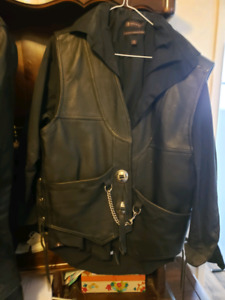 Leather jackets and vest